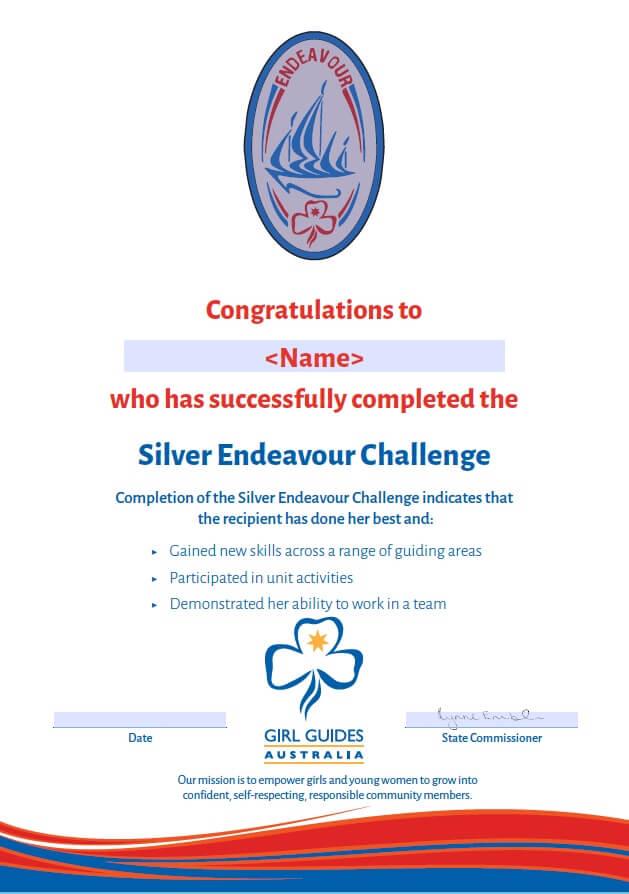 Endeavour Certificates